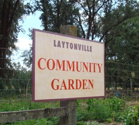 Laytonville Community Garden Sign